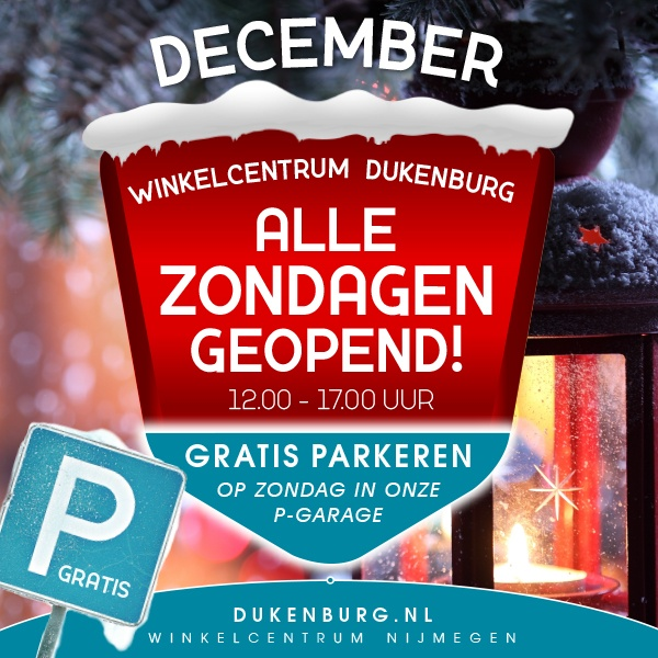 Alle zondagen open in december