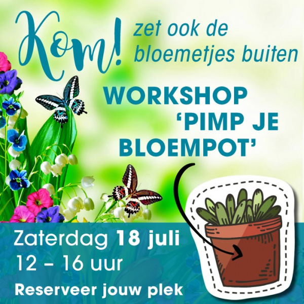 Gratis workshop 'Pimp je bloempot'